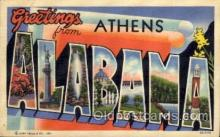 LLT1001133 - Athens, Alabama Large Letter Town Towns Post Cards Postcards