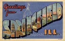 LLT1001134 - Springfield, Illinois Large Letter Town Towns Post Cards Postcards