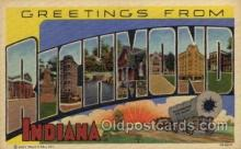 LLT1001135 - Richmond, Indiana Large Letter Town Towns Post Cards Postcards
