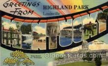 LLT1001137 - Highland Park, Louisville, Kentucky Large Letter Town Towns Post Cards Postcards