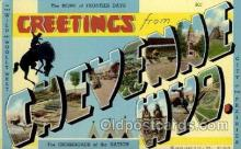 LLT1001141 - Cheyenne, Wyoming Large Letter Town Towns Post Cards Postcards
