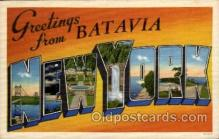 LLT1001143 - Batavia, New York Large Letter Town Towns Post Cards Postcards