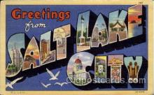 LLT1001148 - Salt Lake City, Utah Large Letter Town Towns Post Cards Postcards