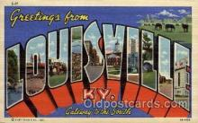 LLT1001151 - Louisville, Kentucky Large Letter Town Towns Post Cards Postcards