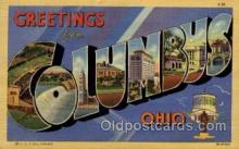 LLT1001152 - Columbus, Ohio Large Letter Town Towns Post Cards Postcards