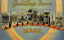LLT1001153 - Worcester, Massachusetts Large Letter Town Towns Post Cards Postcards