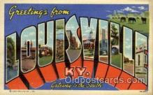 LLT1001156 - Louisville, Kentucky Large Letter Town Towns Post Cards Postcards