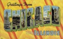 LLT1001158 - Chicago, Illinois Large Letter Town Towns Post Cards Postcards