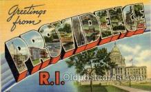 LLT1001159 - Providence, Rhode Island Large Letter Town Towns Post Cards Postcards
