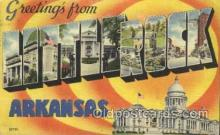 LLT100116 - Littlerock, Arkansas, Usa Large Letter Town, Towns, Postcard Postcards