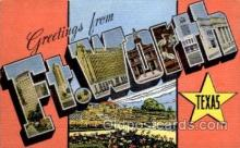 LLT1001161 - Ft. Worth, Texas Large Letter Town Towns Post Cards Postcards