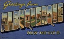 LLT1001163 - Albuquerque, New Mexico Large Letter Town Towns Post Cards Postcards