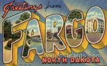 LLT1001167 - Fargo, North Dakota Large Letter Town Towns Post Cards Postcards