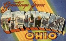 LLT1001169 - Cincinnati, Ohio Large Letter Town Towns Post Cards Postcards
