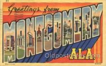 LLT100117 - Montgomery, Alabama, Usa Large Letter Town, Towns, Postcard Postcards