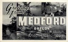 LLT1001172 - Medford, Oregon Large Letter Town Towns Post Cards Postcards