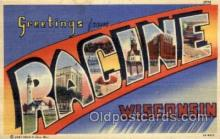 LLT1001173 - Racine, Wisconsin Large Letter Town Towns Post Cards Postcards