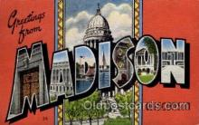 LLT1001174 - Madison, Wisconsin Large Letter Town Towns Post Cards Postcards