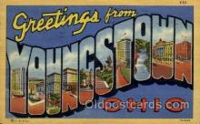 LLT1001179 - Youngstown, Ohio Large Letter Town Towns Post Cards Postcards