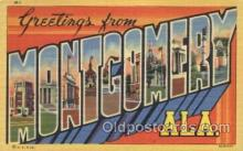 LLT100118 - Montgomery, Alabama, Usa Large Letter Town, Towns, Postcard Postcards