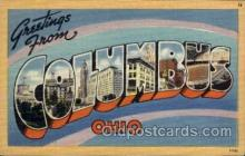 LLT1001181 - Columbus, Ohio Large Letter Town Towns Post Cards Postcards
