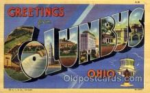 LLT1001183 - Columbus, Ohio Large Letter Town Towns Post Cards Postcards