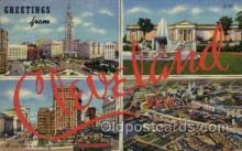 LLT1001184 - Cleveland, Ohio Large Letter Town Towns Post Cards Postcards
