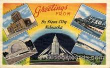 LLT1001186 - South Sioux City, Nebraska Large Letter Town Towns Post Cards Postcards