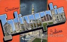 LLT1001188 - Indianapolis, Indiana Large Letter Town Towns Post Cards Postcards