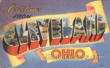 LLT100119 - Cleveland, Ohio, USA Large Letter Town, Towns, Postcard Postcards