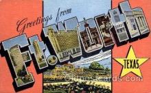 LLT1001191 - Ft. Worth, Texas Large Letter Town Towns Post Cards Postcards
