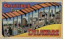 LLT1001196 - Wilmington, Delaware Large Letter Town Towns Post Cards Postcards