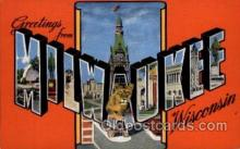 LLT1001197 - Milwaukee, Wisconsin Large Letter Town Towns Post Cards Postcards