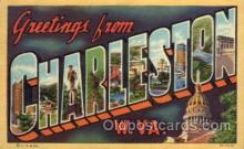 LLT1001198 - Charleston, West Virginia Large Letter Town Towns Post Cards Postcards