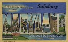 LLT1001199 - Salisbury, Maryland Large Letter Town Towns Post Cards Postcards