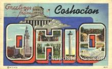 LLT100120 - Coshocton, Ohio, USA Large Letter Town, Towns, Postcard Postcards