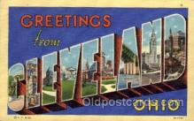 LLT1001203 - Cleveland, Ohio Large Letter Town Towns Post Cards Postcards