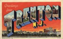 LLT1001207 - Trenton, New Jersey Large Letter Town Towns Post Cards Postcards