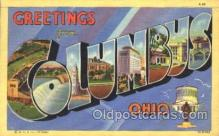 LLT100121 - Columbus, Ohio, USA Large Letter Town, Towns, Postcard Postcards
