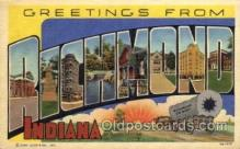 LLT1001210 - Richmond, Indiana Large Letter Town Towns Post Cards Postcards