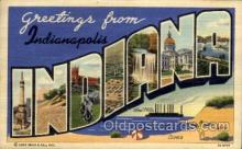 LLT1001214 - Indianapolis, Indiana Large Letter Town Towns Post Cards Postcards
