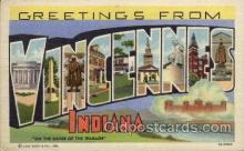 LLT1001216 - Vincennes, Indiana Large Letter Town Towns Post Cards Postcards