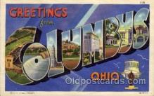 LLT1001217 - Columbus, Ohio Large Letter Town Towns Post Cards Postcards