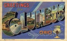 LLT1001224 - Columbus, Ohio Large Letter Town Towns Post Cards Postcards