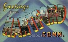 LLT1001225 - Hartford, Connecticut Large Letter Town Towns Post Cards Postcards