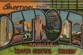 LLT1001226 - Detroit, Michigan Large Letter Town Towns Post Cards Postcards