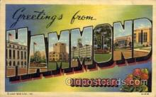 LLT1001229 - Hammond, Indiana Large Letter Town Towns Post Cards Postcards