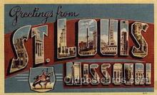 LLT1001231 - St. Louis, Missouri Large Letter Town Towns Post Cards Postcards
