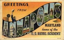LLT1001233 - Annapolis, Maryland Large Letter Town Towns Post Cards Postcards