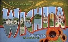 LLT1001236 - Wichita, Kansas Large Letter Town Towns Post Cards Postcards